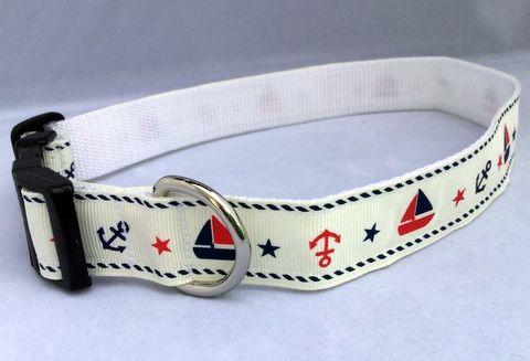 Nautical Handmade Dog Collar