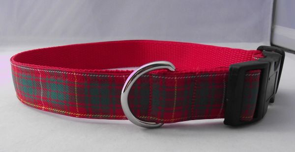 Bruce Tartan Dog Collar Handmade Plaid