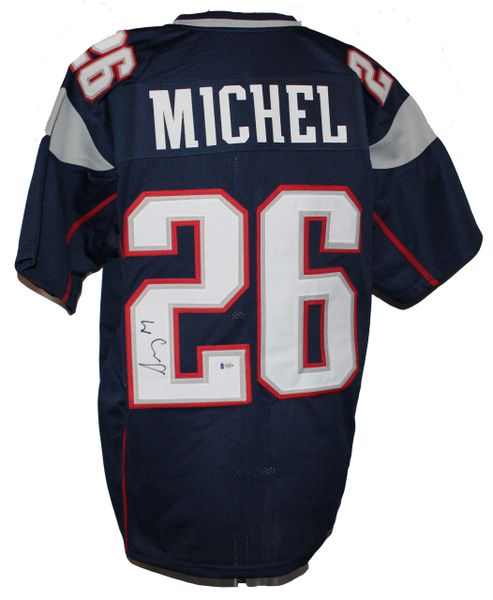 Sony Michel Signed Patriots Style Jersey #26 - Beckett Authenticated