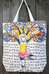 """Tree of Life"" Yoga Tote"