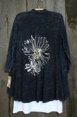 Jess & Jane Mono Flower Cardigan