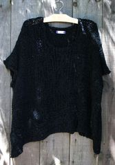 BK Moda Black Pocket Layering Sweater