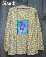 Polka Dot Flamingo Sweatshirt