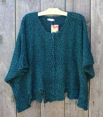 BK Moda Scalloped Poncho Layering Sweater