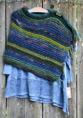 Llama Love Hand Knit Sweater Poncho