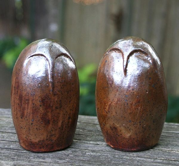 Mountain Gal Zen Owls Salt-n-Pepper Shakers