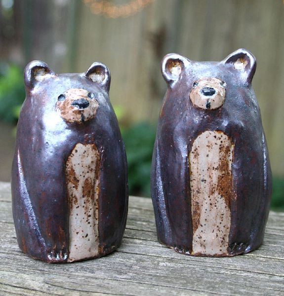 Mountain Gal Bears Salt-n-Pepper Shakers