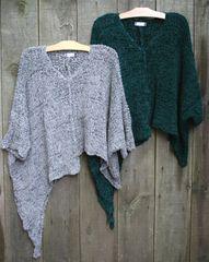 BK Moda Angled Poncho Layering Sweater