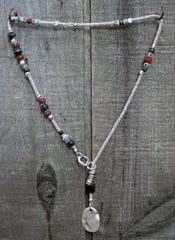 Volare Pewter Lariat Necklace