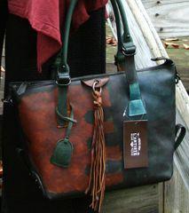 L'Artiste Leather Satchel