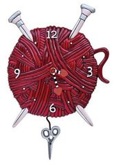 Allen Designs Knitting Love Clock