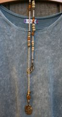 Volare Pewter Lariat Necklace