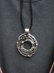 Volare Pewter Pendant Necklace