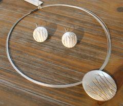 Origins Golden Wheat Necklace & Earrings