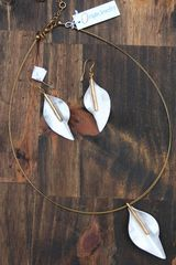 Origins Silver Leaf Necklace & Earrings