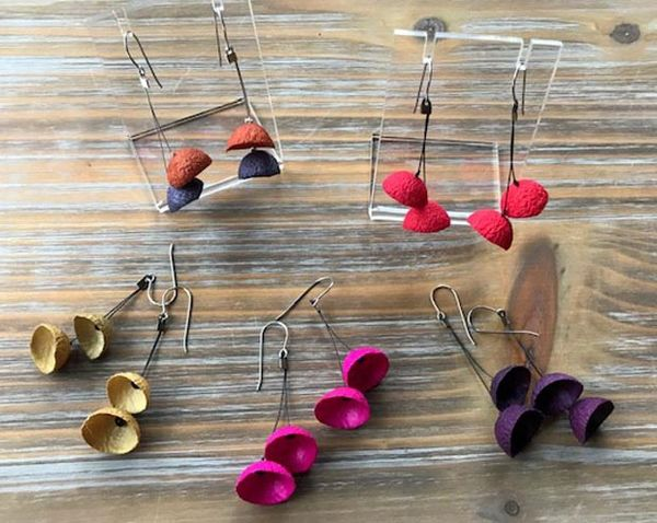 Mini Silk Pod Earrings