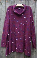 Burgundy Cowl Top