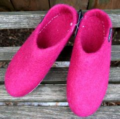 Sherpa Wool Felt Slippers - Pink and Purple!