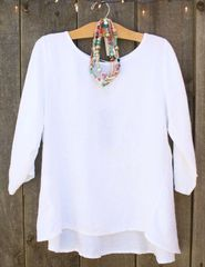 Luca Vanucci White Linen Top -- LAST ONE!