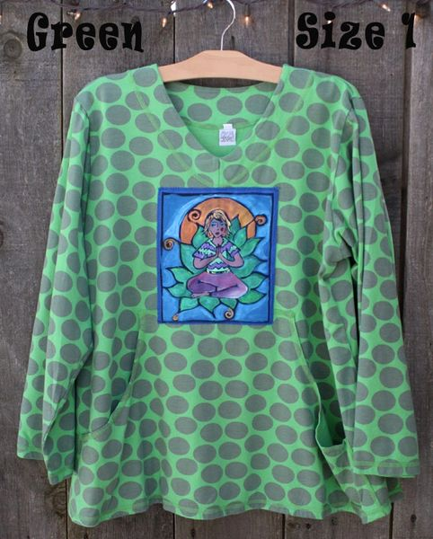 Green Dotty Sweatshirt