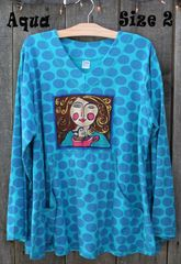 Aqua Dotty Sweatshirt