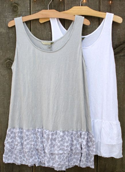 Chalet Mariel Layering White Tank - Size S - LAST ONE!