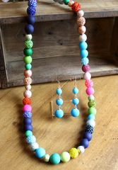 Colorful Long Cocktail Necklace