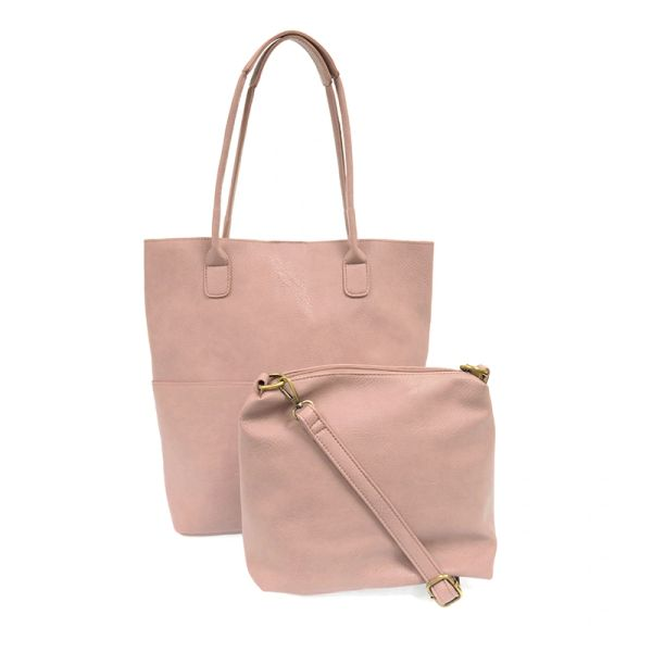 Joy Susan Kelly Vegan Tote Set -- Blush Pink