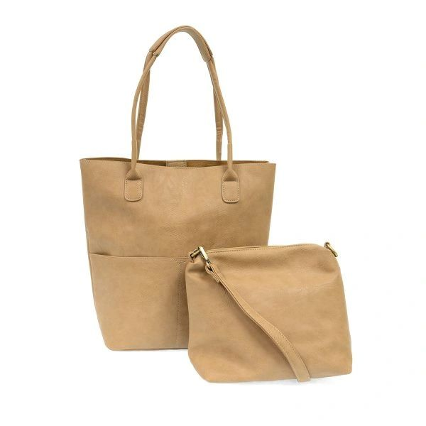 Joy Susan Kelly Vegan Tote Set -- Camel