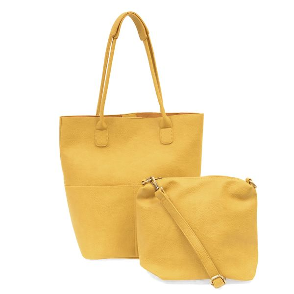 Joy Susan Kelly Vegan Tote Set -- Dijon