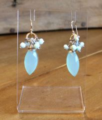 Original Hardware Chalcedony Earrings