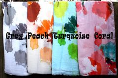 Watercolor Floral Scarf