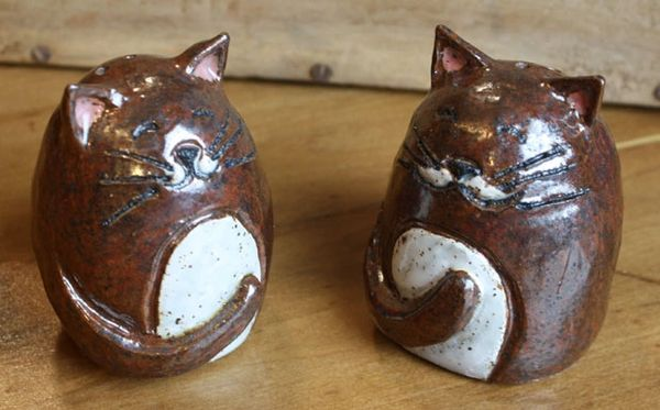 Mountain Gal Cinnamon Cats Salt-n-Pepper Shakers
