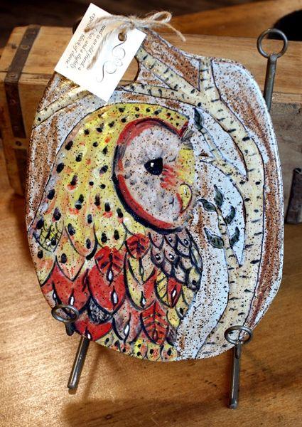 Mountain Gal Fancy Owl Cheese Stone/ Tapas Plate