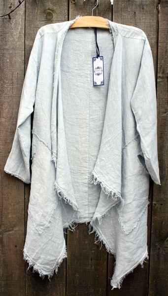 Tempo Paris Silver Linen Cardi - Size S/M -- LAST ONE!