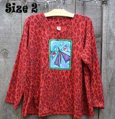 Burnt Orange Leopard Sweatshirt