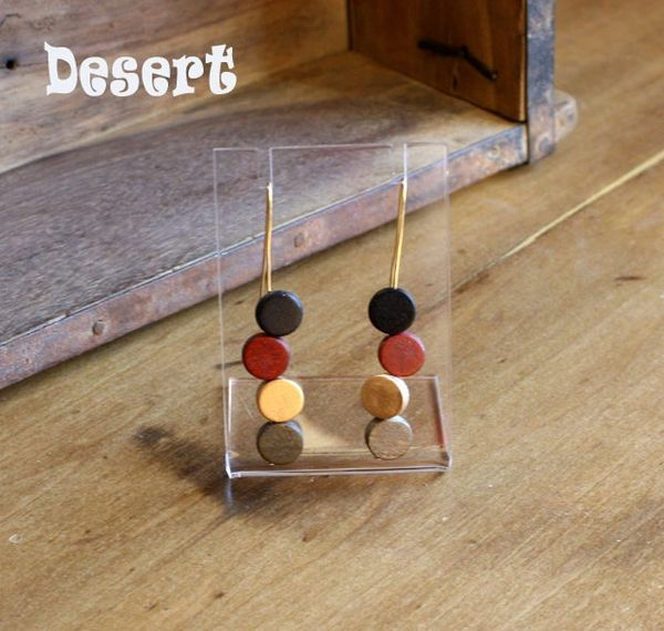 Sylca Eva Dangle Earrings - forest and desert