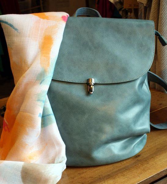 Joy Susan Colette Backpack - Faded Denim
