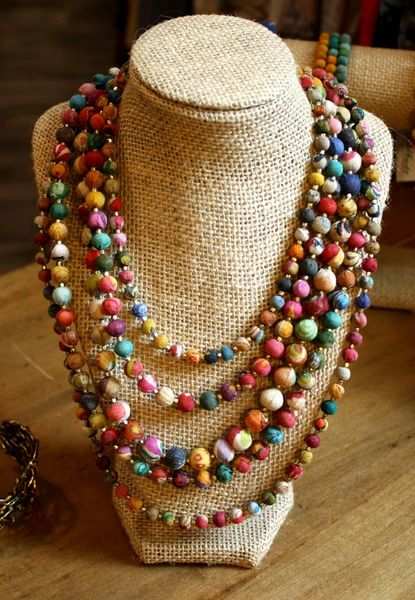 World Finds Multi-Strand Bead Necklace