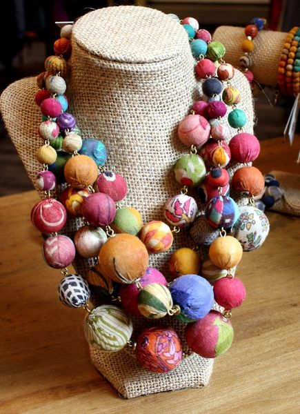 World Finds Kantha Orb Necklace