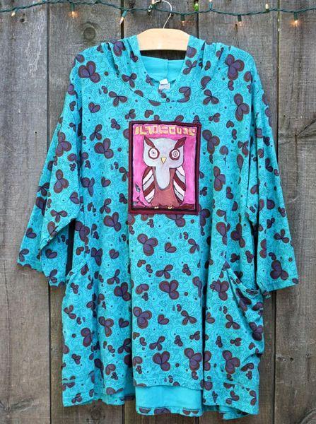 Doodle Hoody w/ Owl Art Patch
