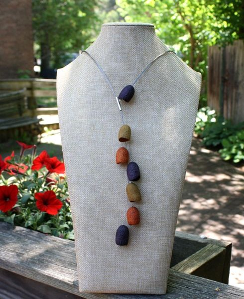 Silk Pod Strand Necklace