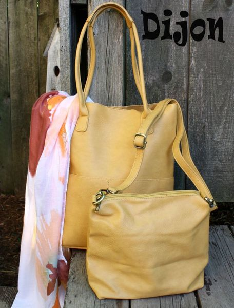 Joy Susan Kelly Vegan 2-in-1 Tote Set -- more colors