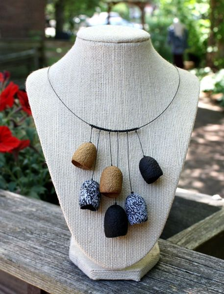 Silk Pod Cluster Necklace