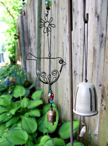 Whimsical Wire Bird Wind Chime