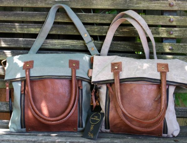 Fold-Over Convertible Tote
