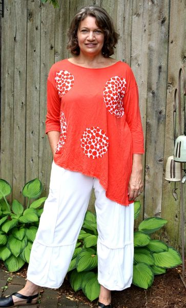 Chalet Monique Tunic - in Silver and Flame