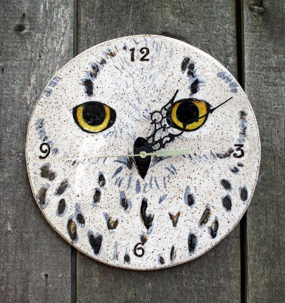 Mountain Gal Snow Owl Clock