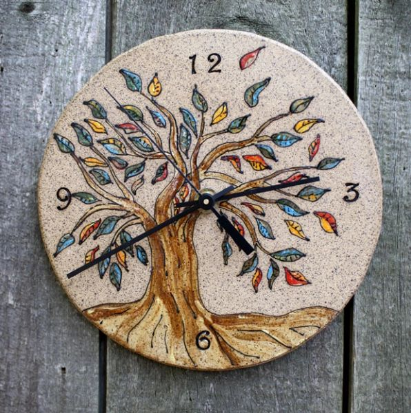 Mountain Gal Tree of Colors Clock
