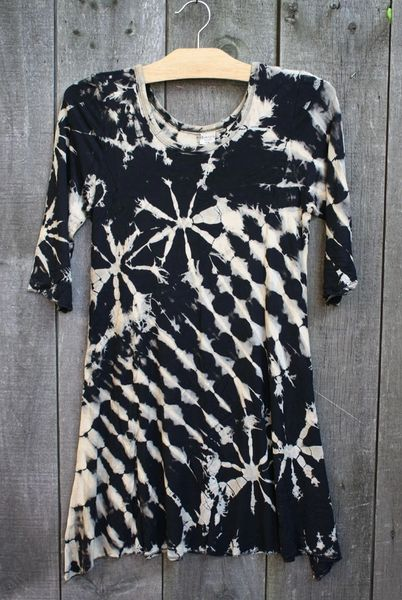 Kathmandu Spandex Tunic Dress - Black/White